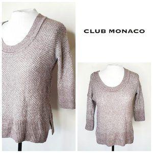 CLUB MONACO Merino Wool Copper Grey Sweater